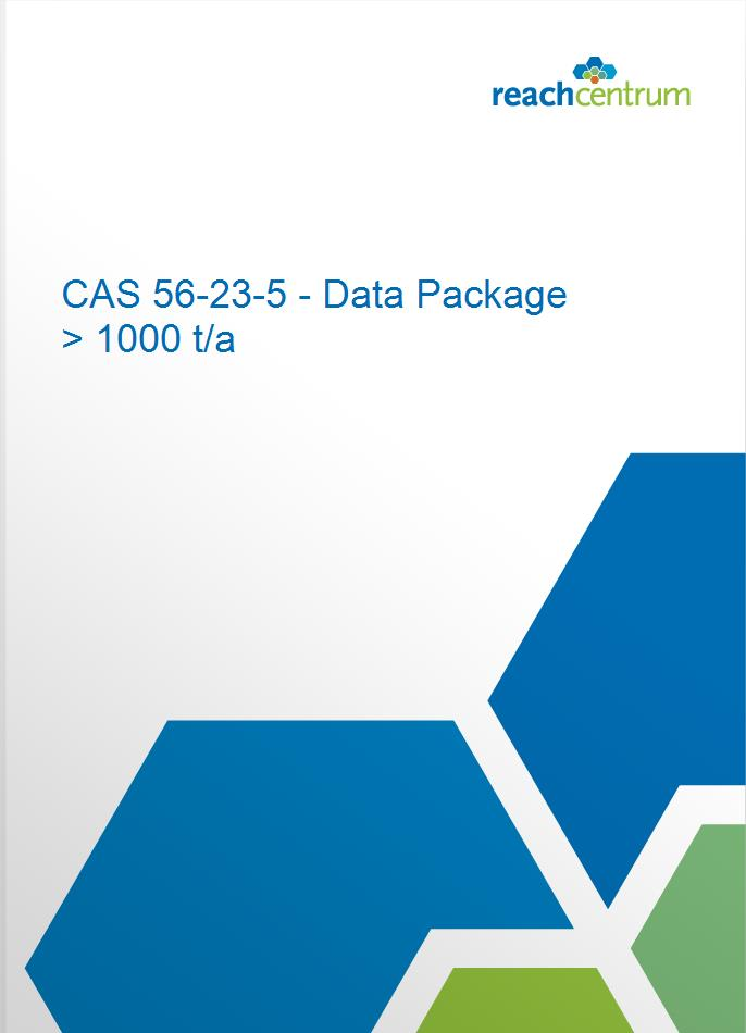 CAS 56-23-5 - Data Package > 1000 t/a