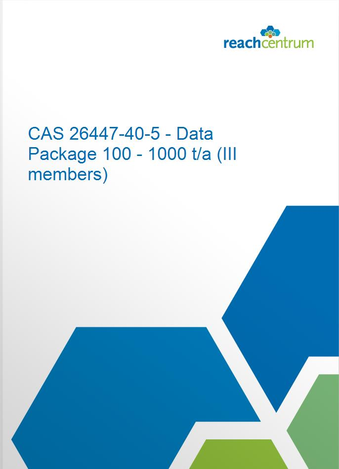 CAS 26447-40-5 - Data Package 100 - 1000 t/a (III members)