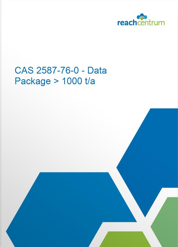 CAS 2587-76-0 - Data Package > 1000 t/a