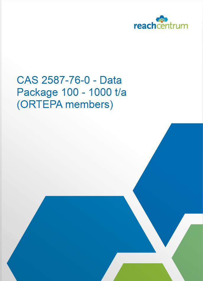 CAS 2587-76-0 - Data Package 100 - 1000 t/a (ORTEPA members)