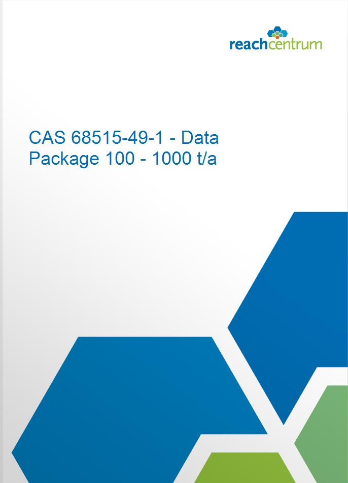 CAS 68515-49-1 - Data Package 100 - 1000 t/a