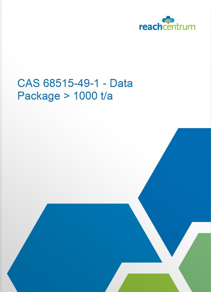 CAS 68515-49-1 - Data Package > 1000 t/a