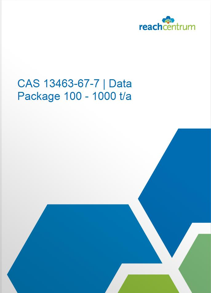 CAS 13463-67-7 | Data Package 100 - 1000 t/a