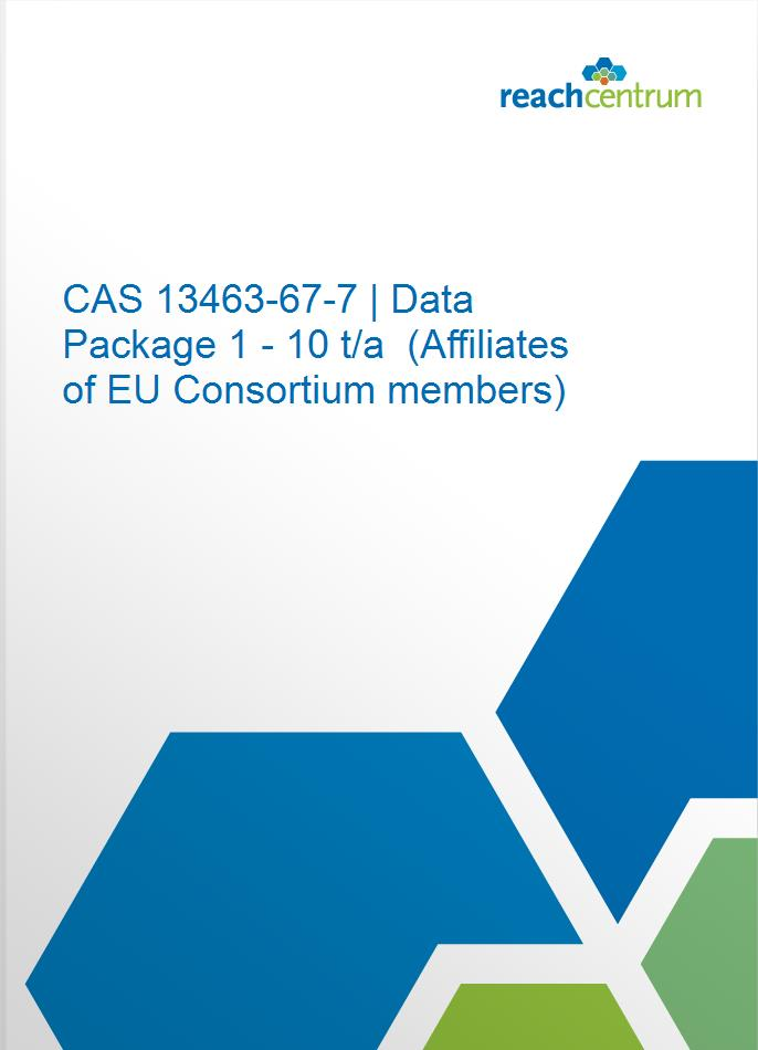 CAS 13463-67-7 | Data Package 1 - 10 t/a  (Affiliates of EU Consortium members)