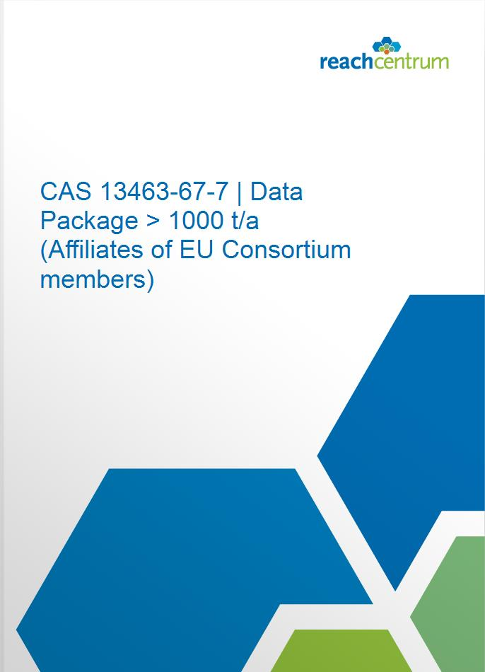 CAS 13463-67-7 | Data Package > 1000 t/a  (Affiliates of EU Consortium members)